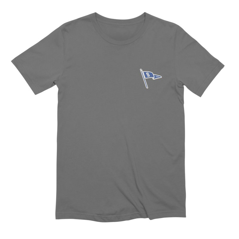 Sandusky Blue Streaks Penant Men's Extra Soft T-Shirt by Shop Sandusky Ink & Cloth