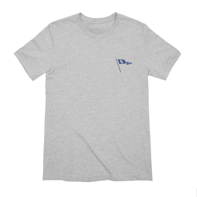Sandusky Blue Streaks Penant Men's Extra Soft T-Shirt by Shop Sandusky Ink & Cloth