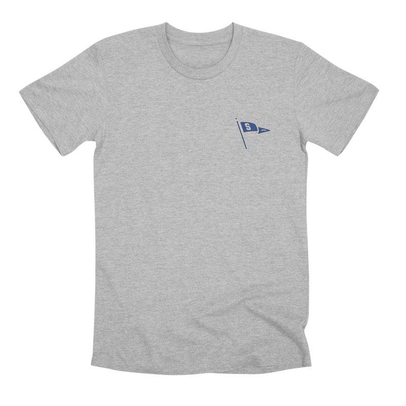 Sandusky Blue Streaks Penant Men's Premium T-Shirt by Shop Sandusky Ink & Cloth