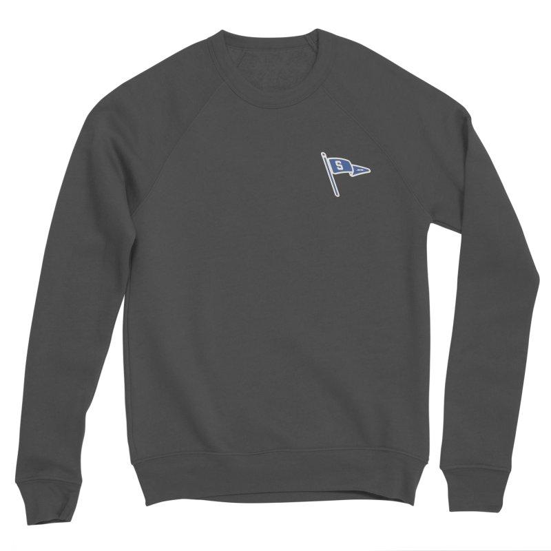 Sandusky Blue Streaks Penant Men's Sponge Fleece Sweatshirt by Shop Sandusky Ink & Cloth