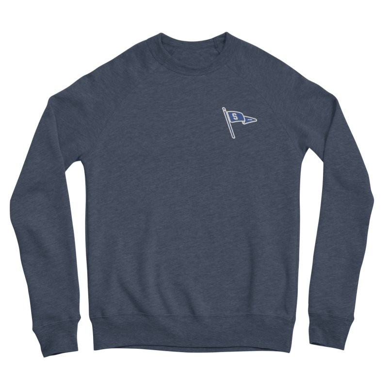 Sandusky Blue Streaks Penant Men's Sponge Fleece Sweatshirt by Shop Sandusky Ink & Cloth