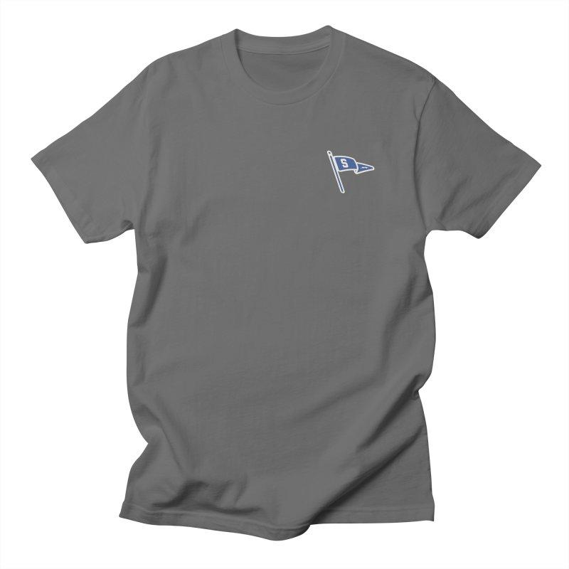 Sandusky Blue Streaks Penant Men's T-Shirt by Shop Sandusky Ink & Cloth