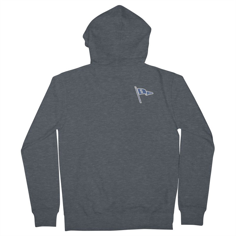 Sandusky Blue Streaks Penant Women's French Terry Zip-Up Hoody by Shop Sandusky Ink & Cloth