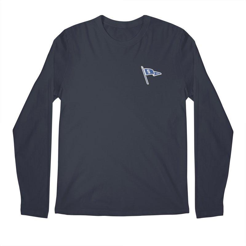 Sandusky Blue Streaks Penant Men's Regular Longsleeve T-Shirt by Shop Sandusky Ink & Cloth