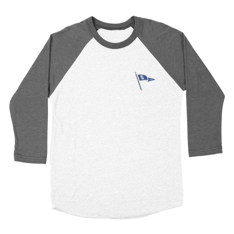 Sandusky Blue Streaks Penant Men's Baseball Triblend Longsleeve T-Shirt by Shop Sandusky Ink & Cloth