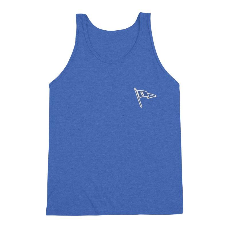 Sandusky Blue Streaks Penant Men's Triblend Tank by Shop Sandusky Ink & Cloth