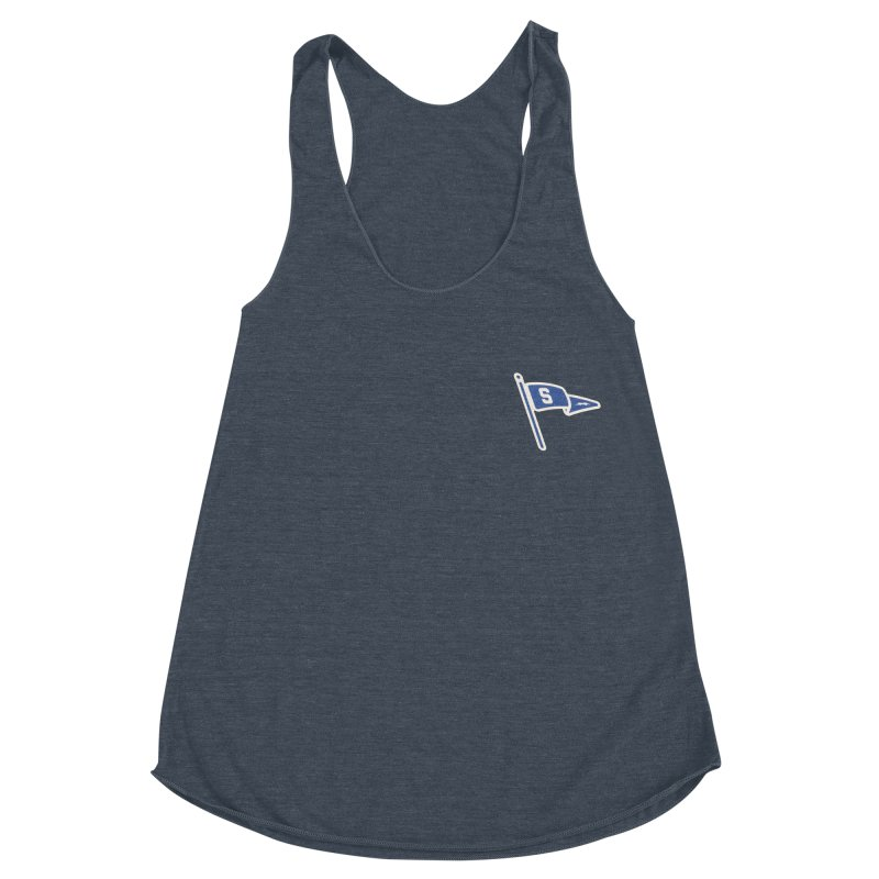 Sandusky Blue Streaks Penant Women's Racerback Triblend Tank by Shop Sandusky Ink & Cloth