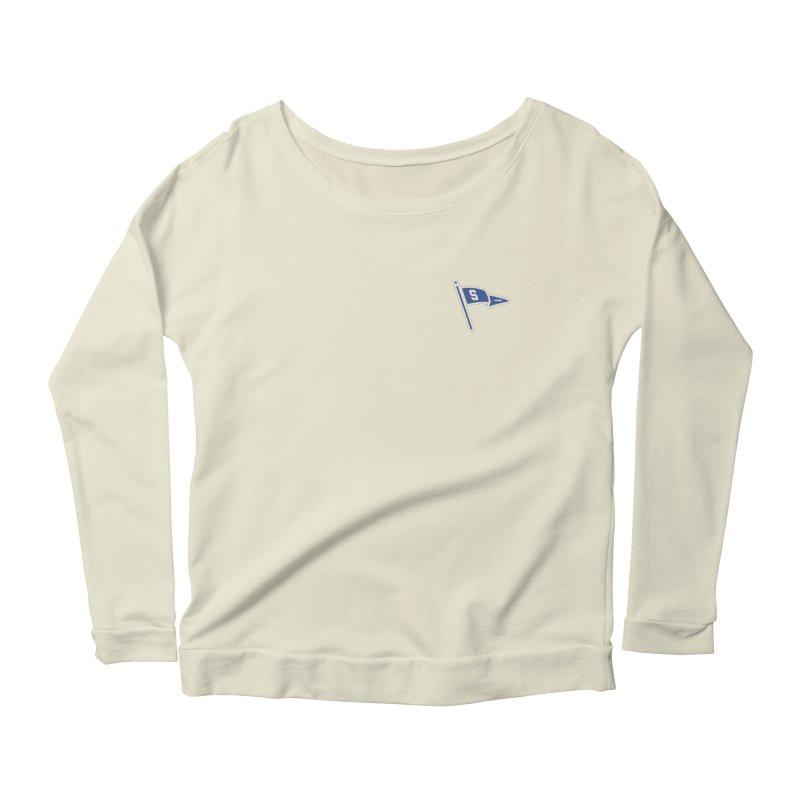 Sandusky Blue Streaks Penant Women's Scoop Neck Longsleeve T-Shirt by Shop Sandusky Ink & Cloth