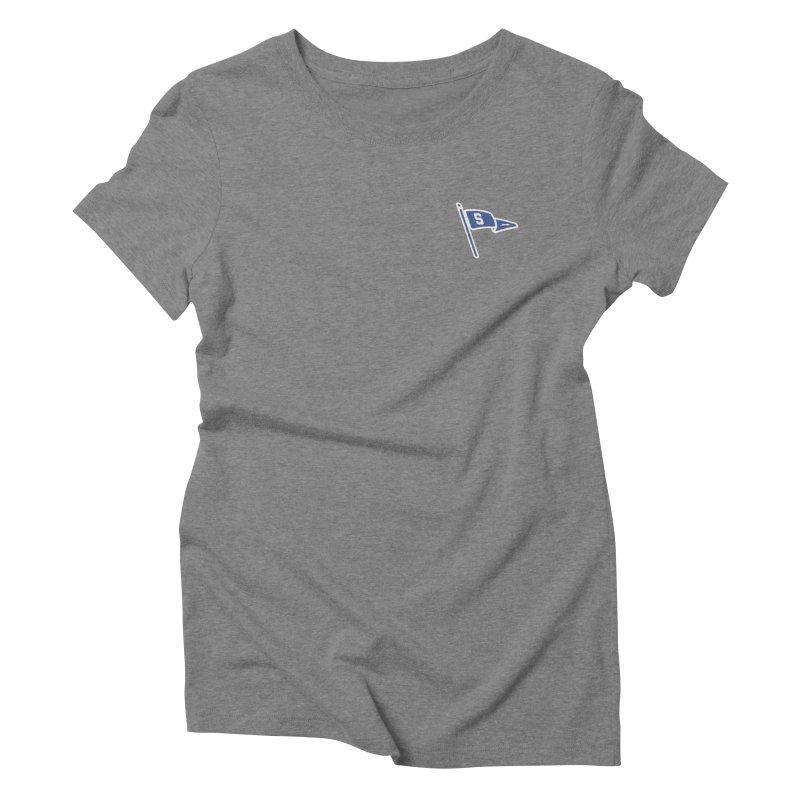 Sandusky Blue Streaks Penant Women's Triblend T-Shirt by Shop Sandusky Ink & Cloth