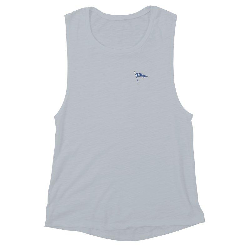 Sandusky Blue Streaks Penant Women's Muscle Tank by Shop Sandusky Ink & Cloth