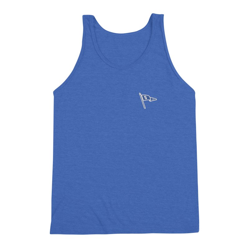 Sandusky Blue Streaks Penant Men's Triblend Tank by Shop Sandusky Ink & Cloth