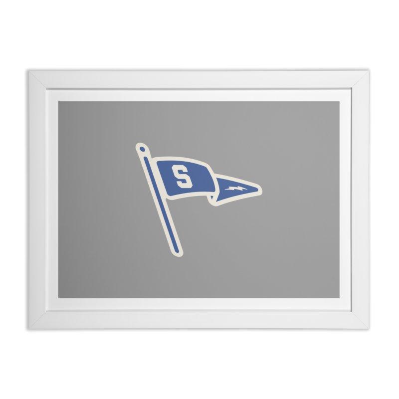 Sandusky Blue Streaks Penant Home Framed Fine Art Print by Shop Sandusky Ink & Cloth
