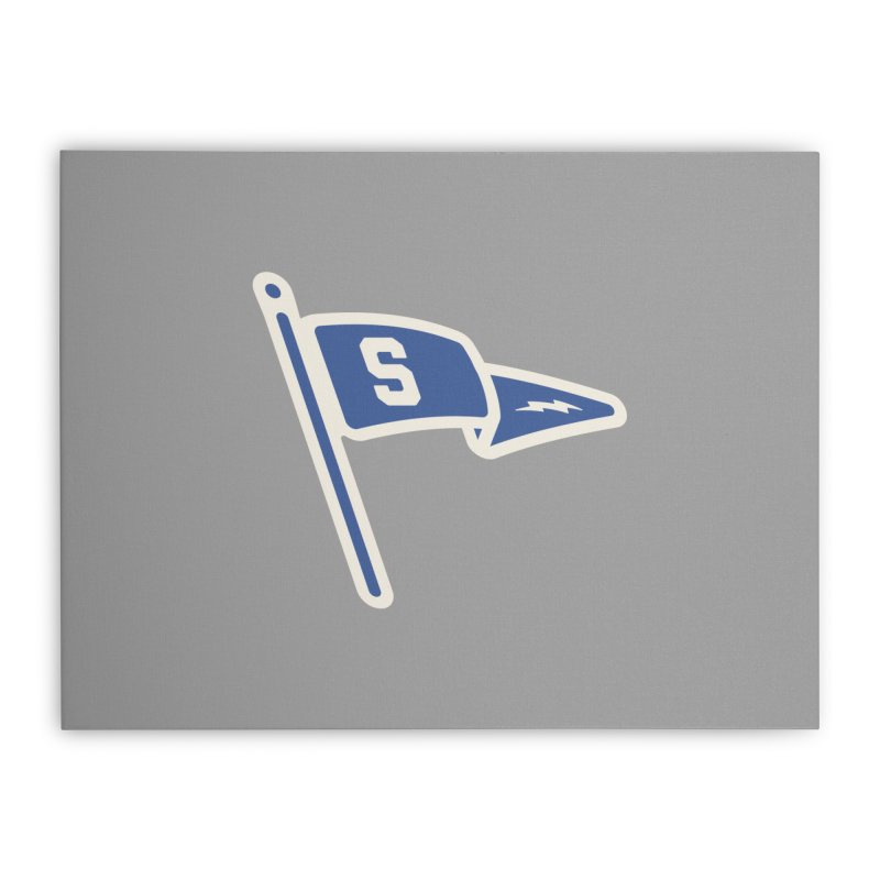 Sandusky Blue Streaks Penant Home Stretched Canvas by Shop Sandusky Ink & Cloth