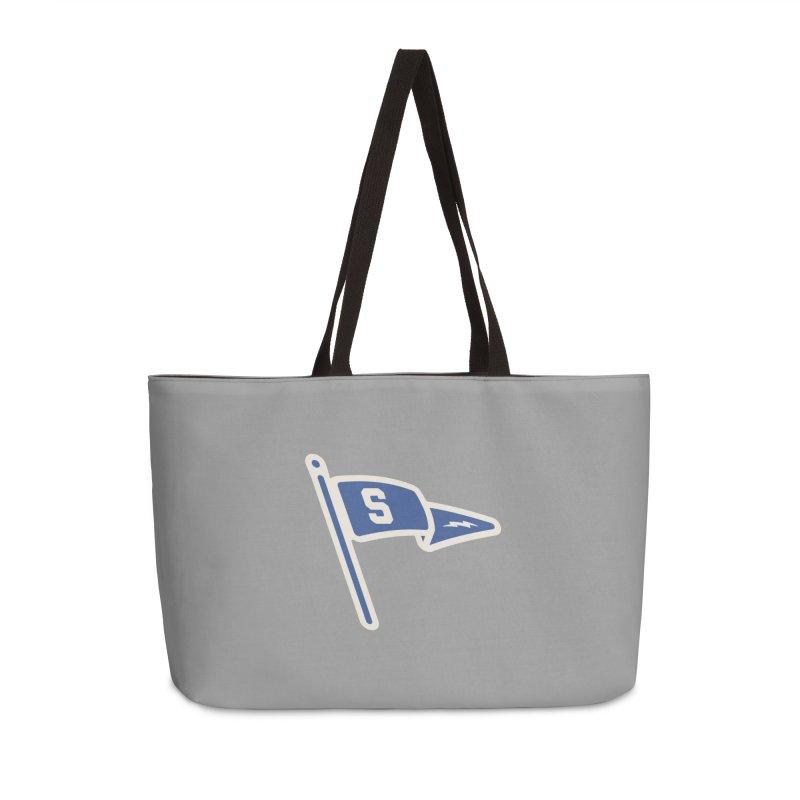 Sandusky Blue Streaks Penant Accessories Weekender Bag Bag by Shop Sandusky Ink & Cloth