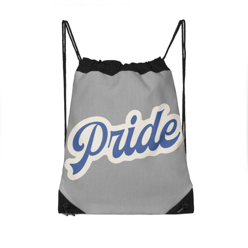 Script Pride Accessories Drawstring Bag Bag by Shop Sandusky Ink & Cloth