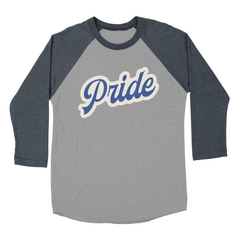Script Pride Men's Baseball Triblend Longsleeve T-Shirt by Shop Sandusky Ink & Cloth