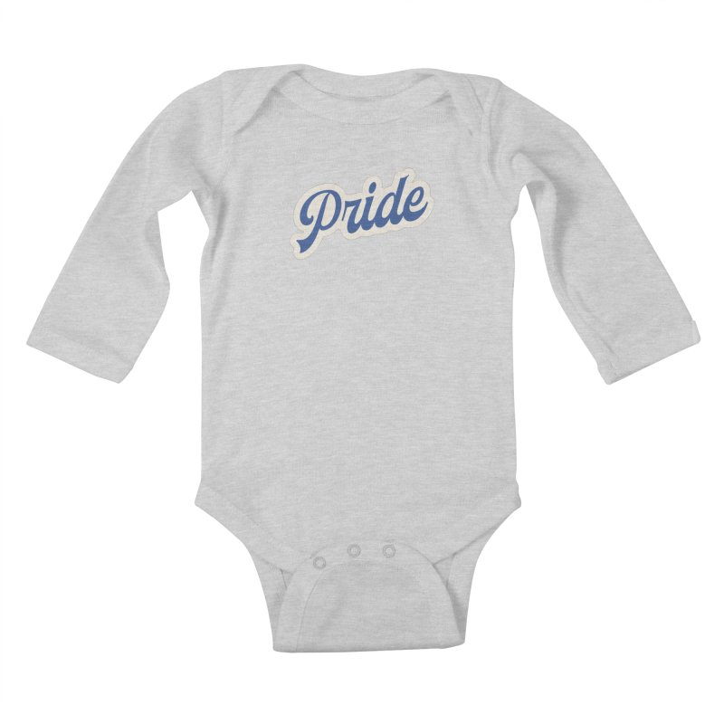 Script Pride Kids Baby Longsleeve Bodysuit by Shop Sandusky Ink & Cloth