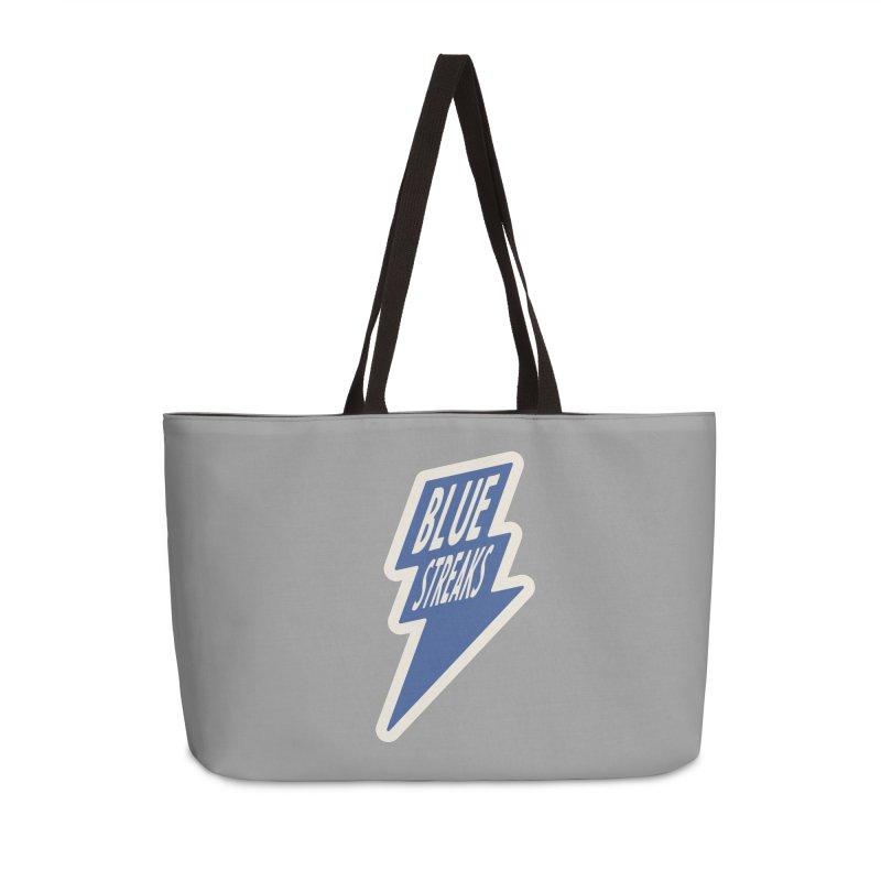 Blue Streaks Lightning Bolt Accessories Weekender Bag Bag by Shop Sandusky Ink & Cloth