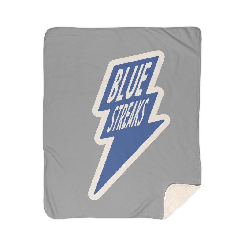 Blue Streaks Lightning Bolt Home Sherpa Blanket Blanket by Shop Sandusky Ink & Cloth