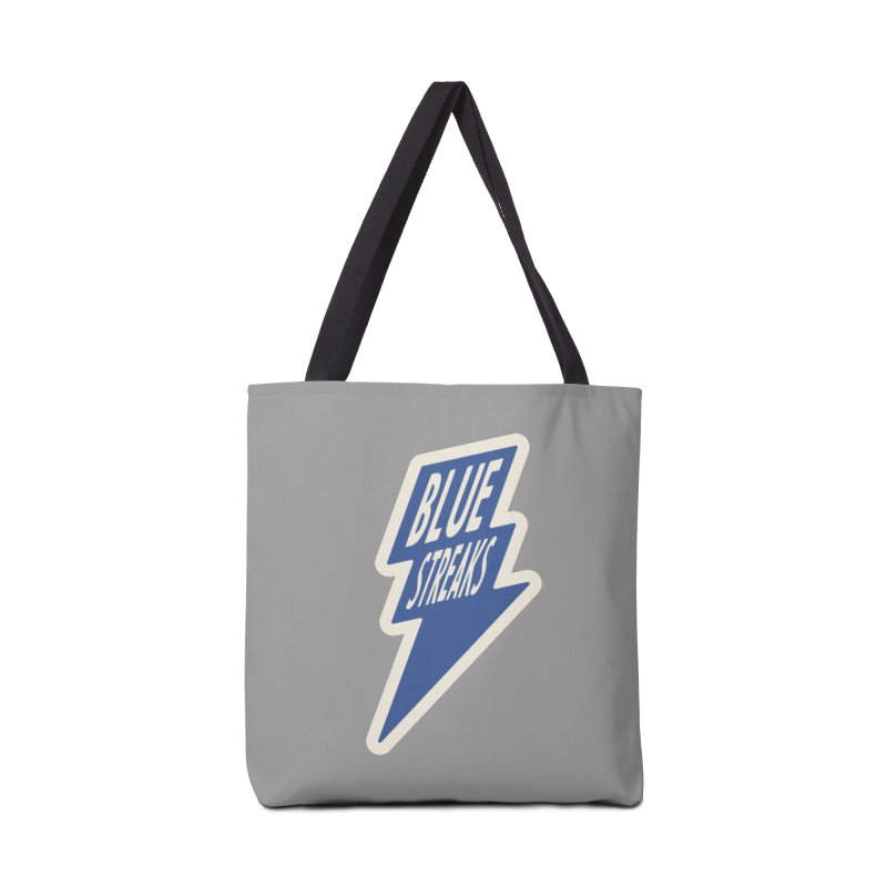 Blue Streaks Lightning Bolt Accessories Tote Bag Bag by Shop Sandusky Ink & Cloth