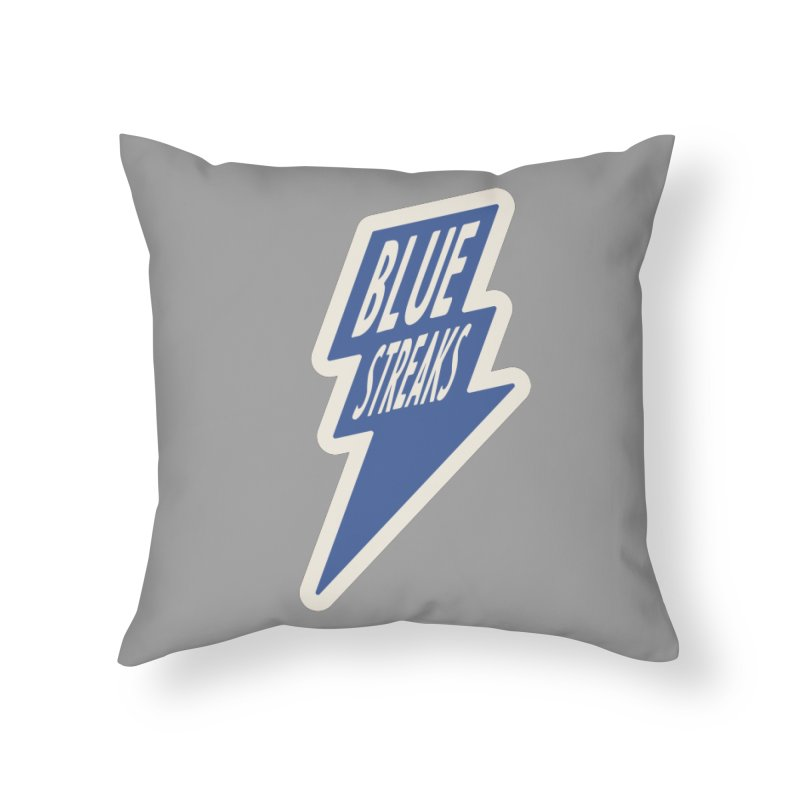 Blue Streaks Lightning Bolt Home Throw Pillow by Shop Sandusky Ink & Cloth