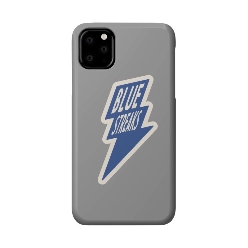 Blue Streaks Lightning Bolt Accessories Phone Case by Shop Sandusky Ink & Cloth