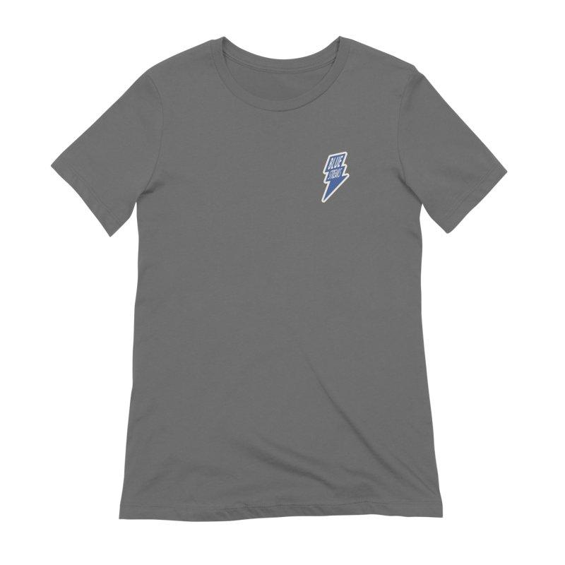 Blue Streaks Lightning Bolt Women's Extra Soft T-Shirt by Shop Sandusky Ink & Cloth