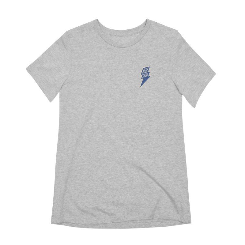 Blue Streaks Lightning Bolt Women's Extra Soft T-Shirt by Shop Sandusky Ink & Cloth