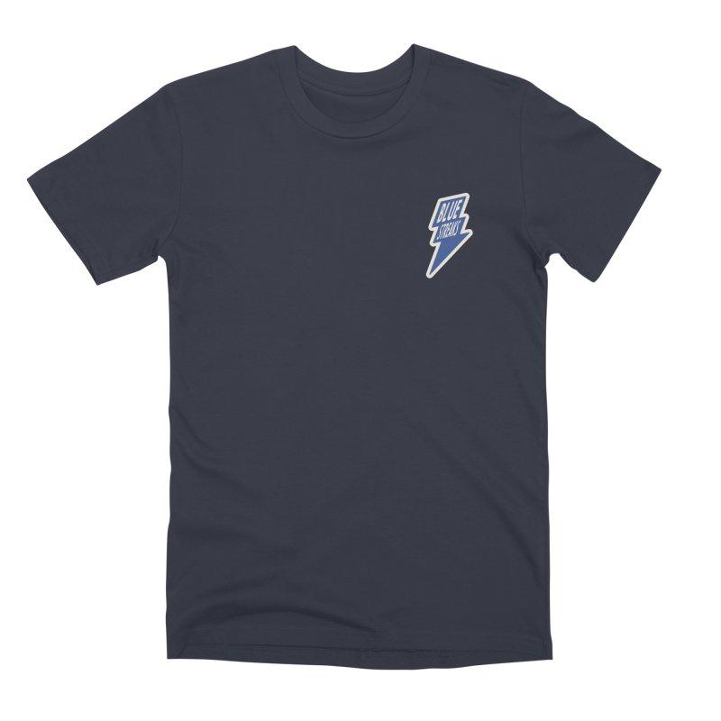 Blue Streaks Lightning Bolt Men's Premium T-Shirt by Shop Sandusky Ink & Cloth