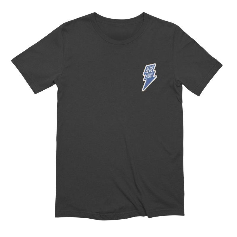 Blue Streaks Lightning Bolt Men's Extra Soft T-Shirt by Shop Sandusky Ink & Cloth