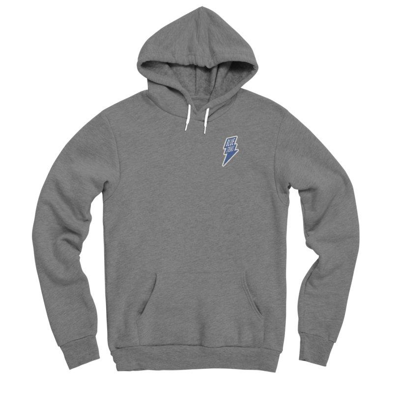Blue Streaks Lightning Bolt Men's Sponge Fleece Pullover Hoody by Shop Sandusky Ink & Cloth