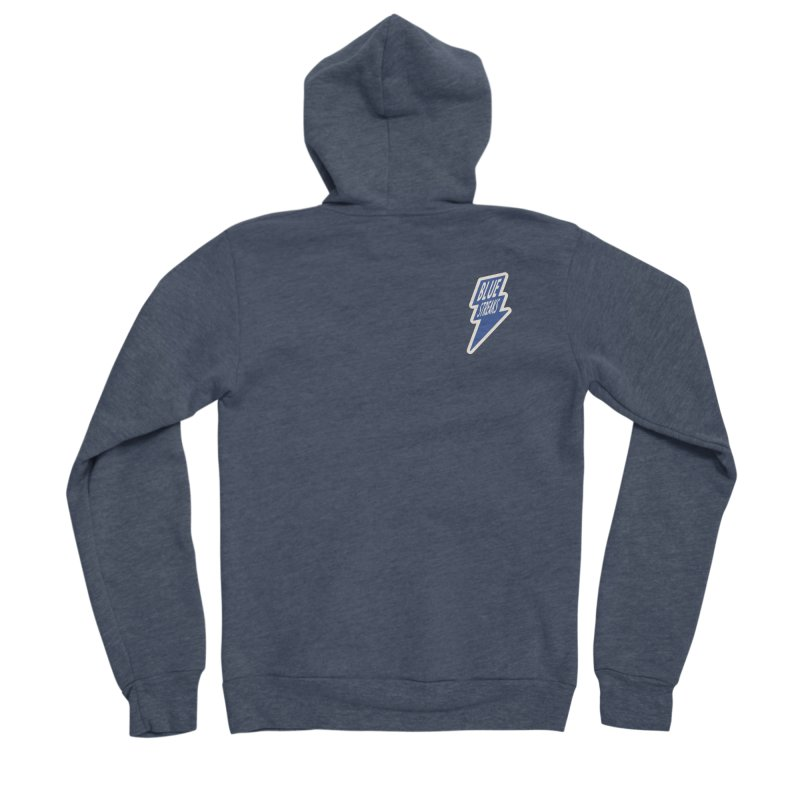 Blue Streaks Lightning Bolt Women's Sponge Fleece Zip-Up Hoody by Shop Sandusky Ink & Cloth