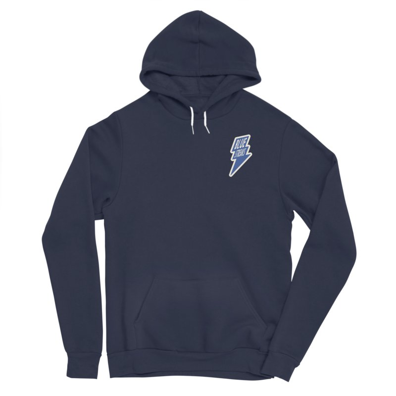 Blue Streaks Lightning Bolt Men's Sponge Fleece Pullover Hoody by Shop Sandusky Ink & Cloth