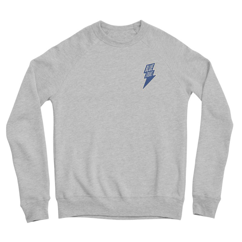 Blue Streaks Lightning Bolt Women's Sponge Fleece Sweatshirt by Shop Sandusky Ink & Cloth