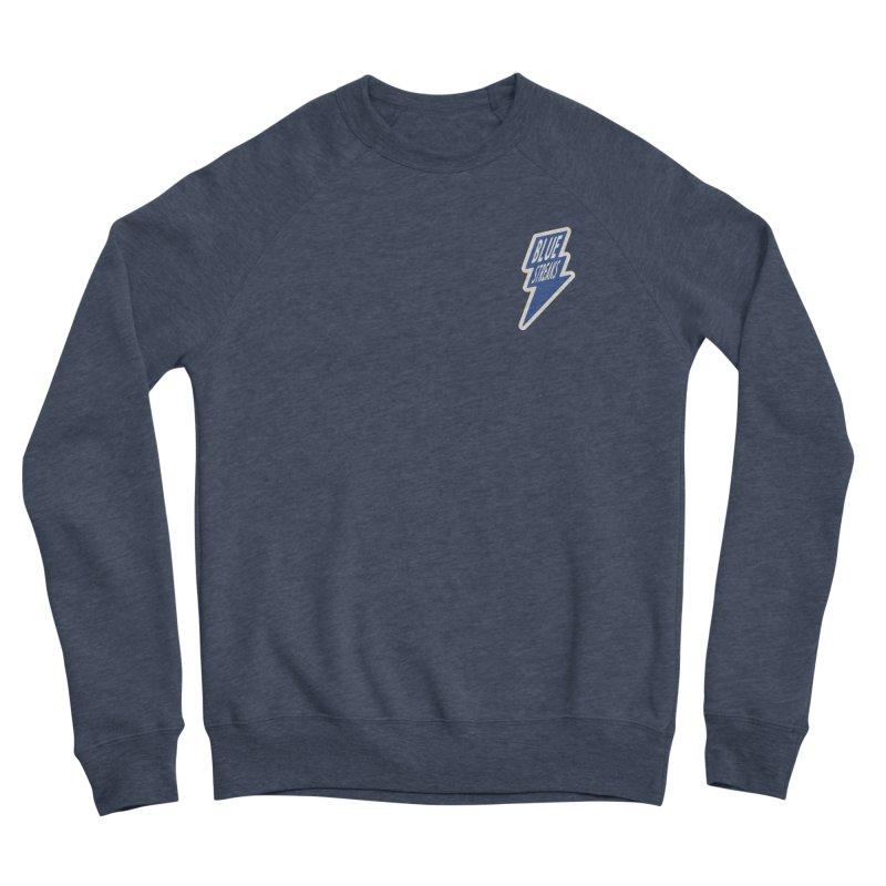 Blue Streaks Lightning Bolt Men's Sponge Fleece Sweatshirt by Shop Sandusky Ink & Cloth
