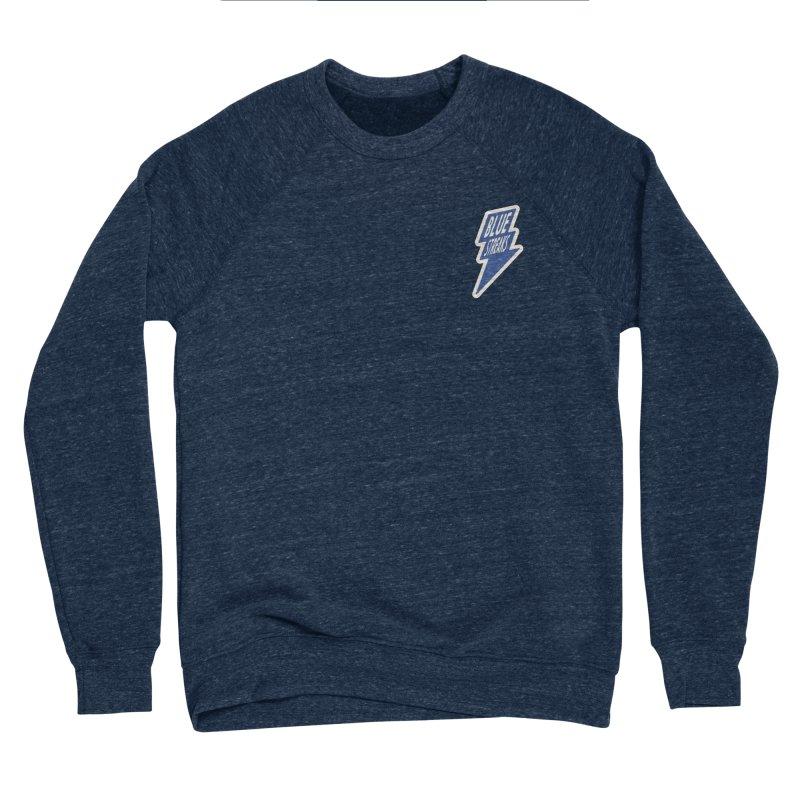 Blue Streaks Lightning Bolt Women's Sponge Fleece Sweatshirt by Shop Sandusky Ink & Cloth
