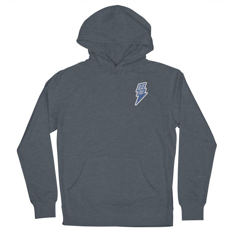Blue Streaks Lightning Bolt Men's French Terry Pullover Hoody by Shop Sandusky Ink & Cloth