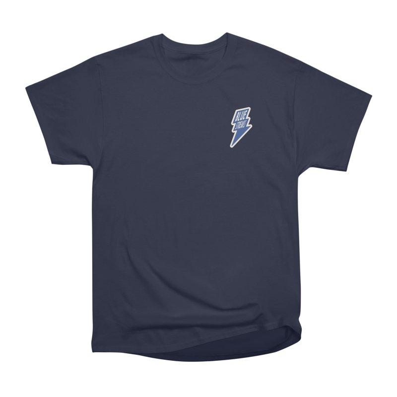 Blue Streaks Lightning Bolt Men's Heavyweight T-Shirt by Shop Sandusky Ink & Cloth