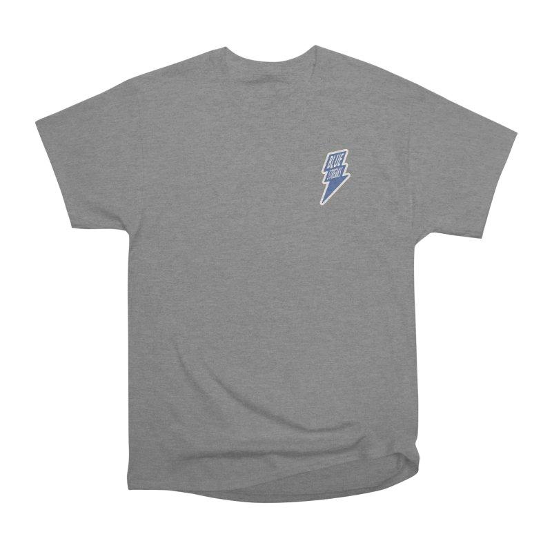 Blue Streaks Lightning Bolt Women's Heavyweight Unisex T-Shirt by Shop Sandusky Ink & Cloth