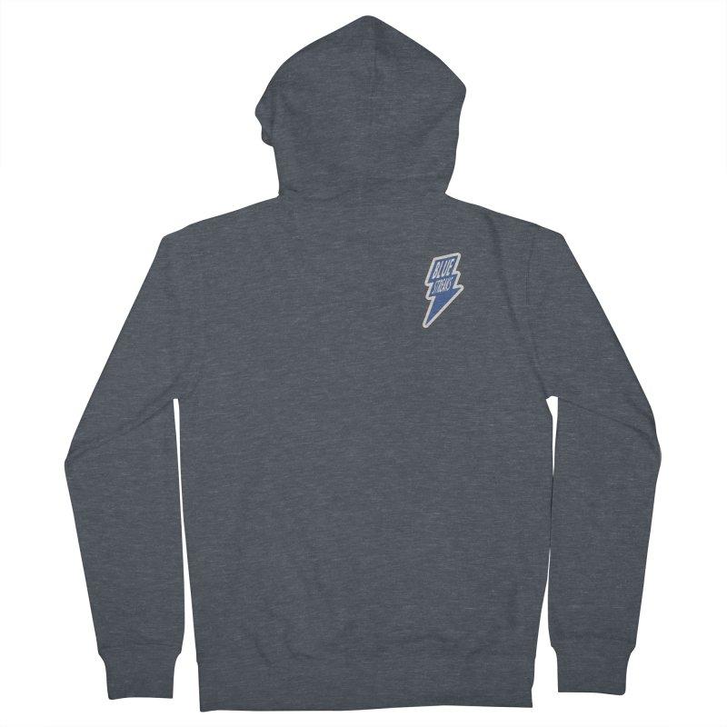 Blue Streaks Lightning Bolt Men's Zip-Up Hoody by Shop Sandusky Ink & Cloth