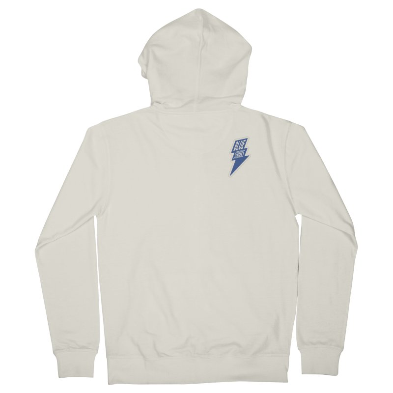 Blue Streaks Lightning Bolt Men's French Terry Zip-Up Hoody by Shop Sandusky Ink & Cloth