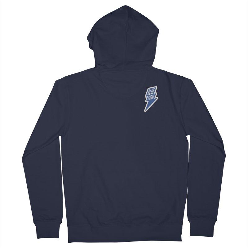 Blue Streaks Lightning Bolt Men's French Terry Zip-Up Hoody by Shop Sandusky Ink & Cloth