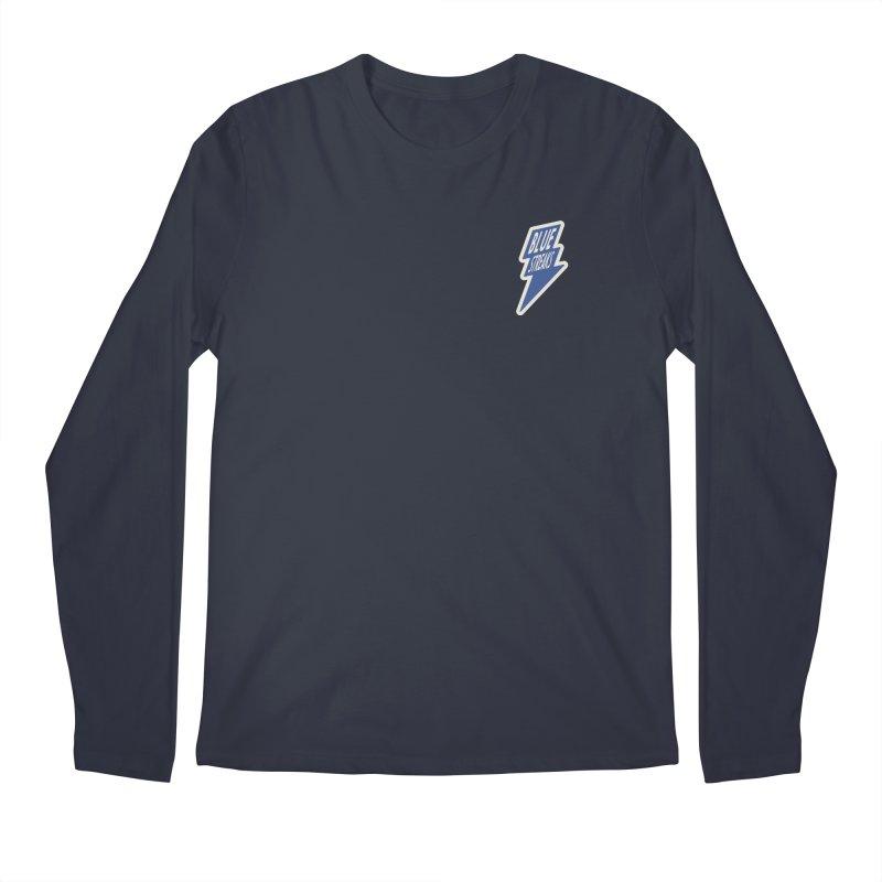 Blue Streaks Lightning Bolt Men's Regular Longsleeve T-Shirt by Shop Sandusky Ink & Cloth