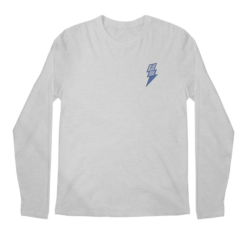 Blue Streaks Lightning Bolt Men's Regular Longsleeve T-Shirt by Shop Sandusky Ink & Cloth
