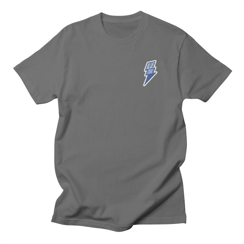 Blue Streaks Lightning Bolt Men's T-Shirt by Shop Sandusky Ink & Cloth