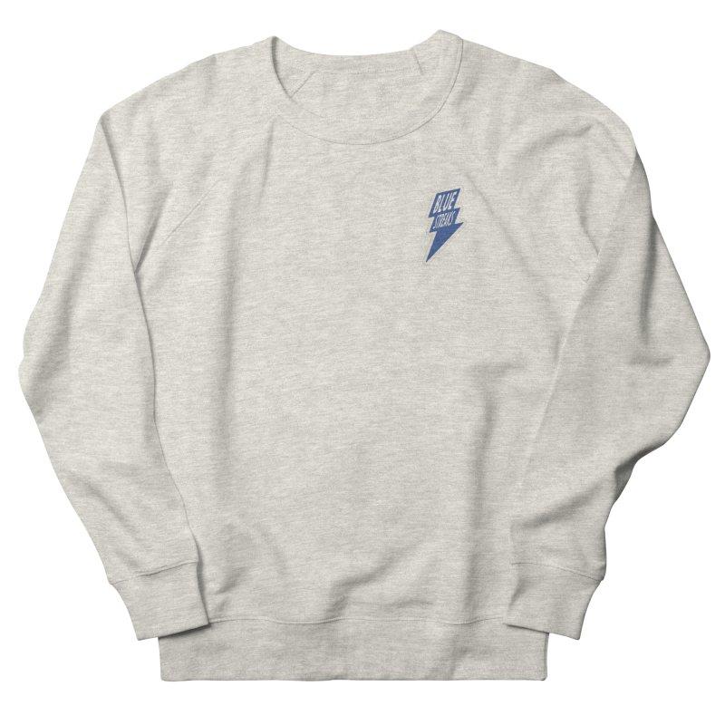 Blue Streaks Lightning Bolt Men's French Terry Sweatshirt by Shop Sandusky Ink & Cloth