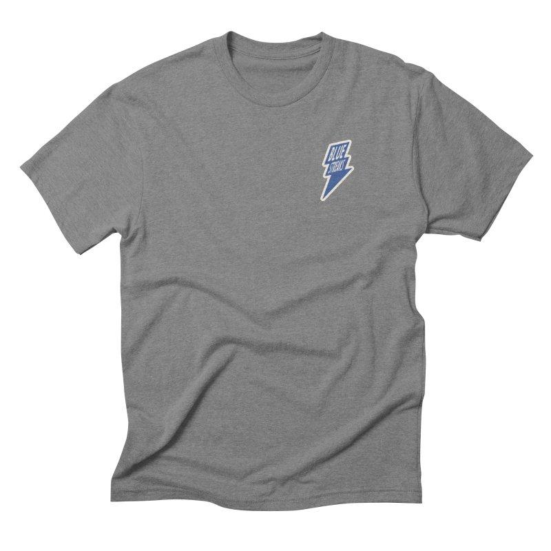 Blue Streaks Lightning Bolt Men's Triblend T-Shirt by Shop Sandusky Ink & Cloth