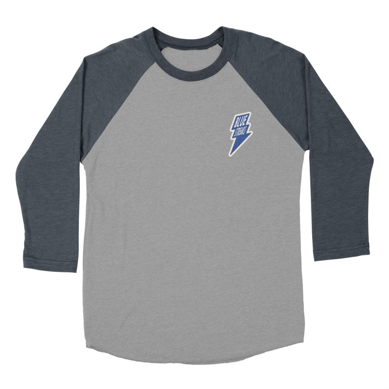 Blue Streaks Lightning Bolt Men's Baseball Triblend Longsleeve T-Shirt by Shop Sandusky Ink & Cloth