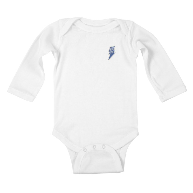Blue Streaks Lightning Bolt Kids Baby Longsleeve Bodysuit by Shop Sandusky Ink & Cloth