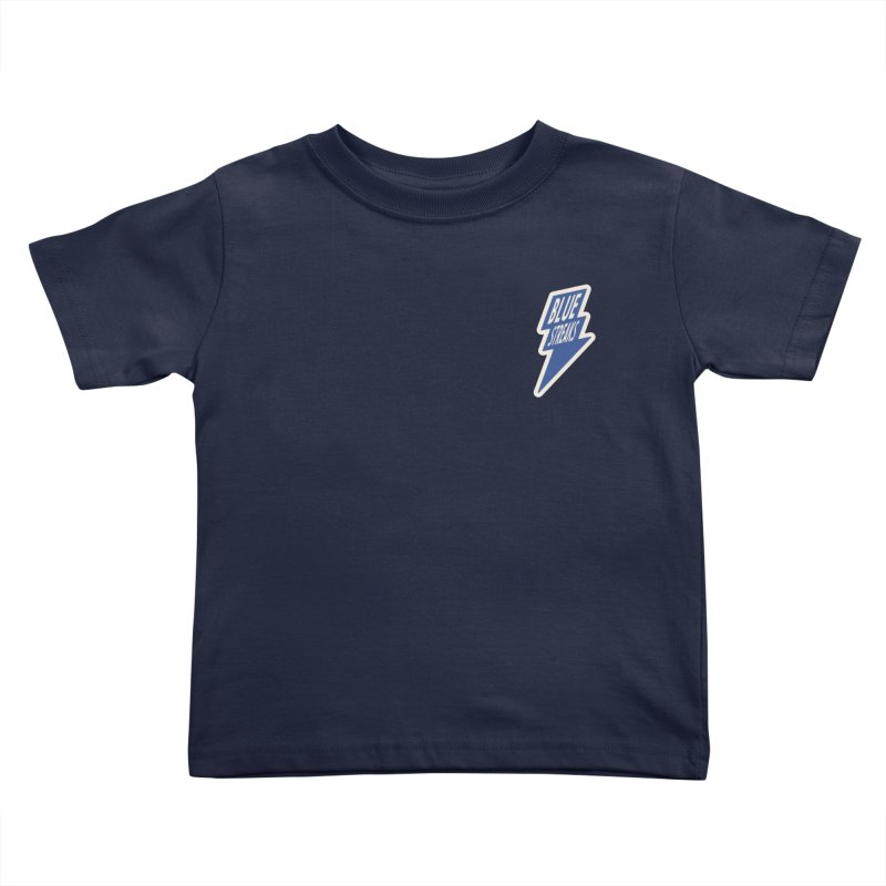 Blue Streaks Lightning Bolt Kids Toddler T-Shirt by Shop Sandusky Ink & Cloth